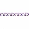 Aluminum Chain 11x8mm Purple 50m/spool